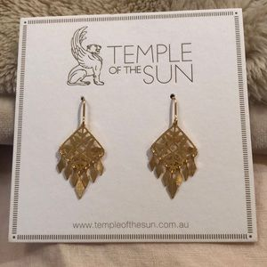 Temple of the sun Roma earrings gold